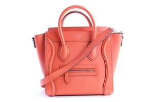 Céline Nano Mini Crossbody Box Micro Satchel in Vermillion