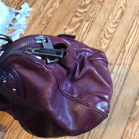 Marc by Marc Jacobs Satchel in Burgundy with silver hardware