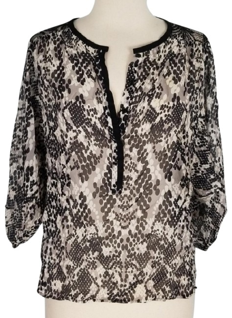 Preload https://item4.tradesy.com/images/trina-turk-black-and-gray-silk-blouse-size-4-s-23367213-0-2.jpg?width=400&height=650