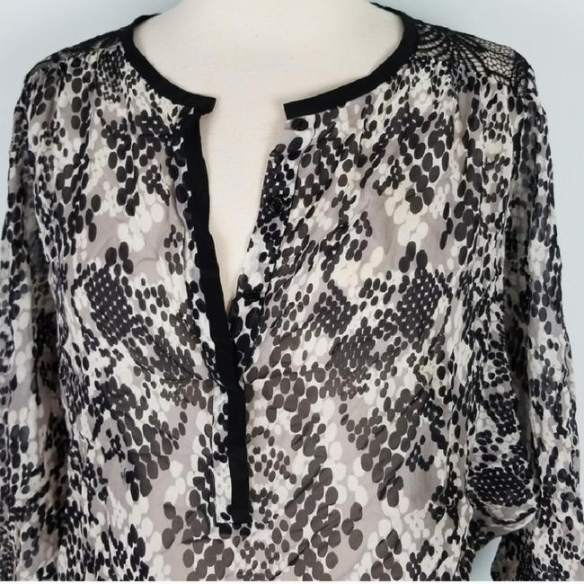 Trina Turk Top Black and Gray