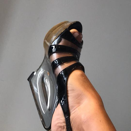 Dolce&Gabbana clear and black Wedges