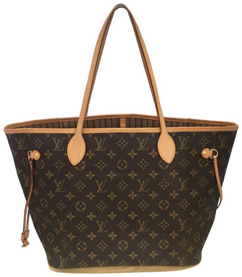 Preload https://img-static.tradesy.com/item/23367224/louis-vuitton-neverfulll-mm-with-dustbag-brown-monogram-canvas-tote-0-1-540-540.jpg
