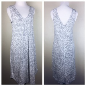 Ann Taylor LOFT short dress gray white on Tradesy