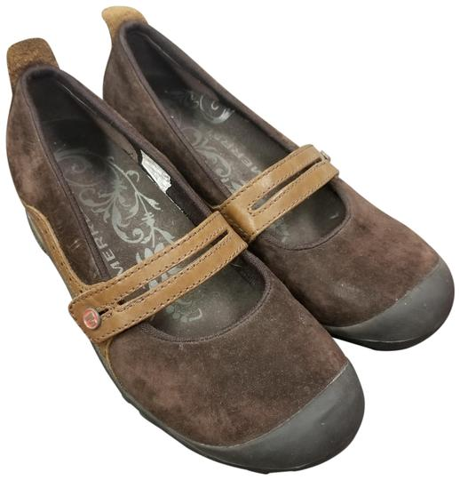 Merrell Suede Flats Brown Athletic Image 1