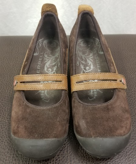 Merrell Suede Flats Brown Athletic Image 2