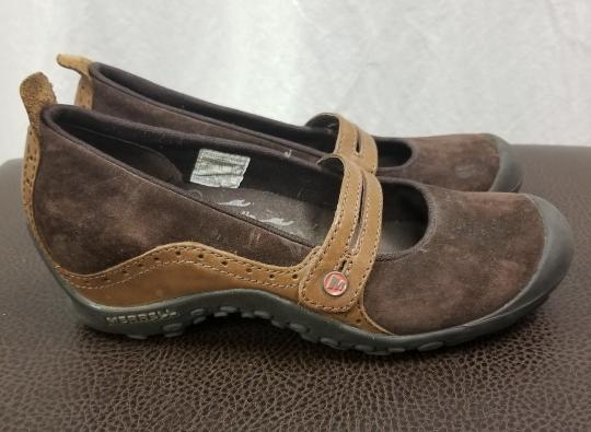 Merrell Suede Flats Brown Athletic Image 6