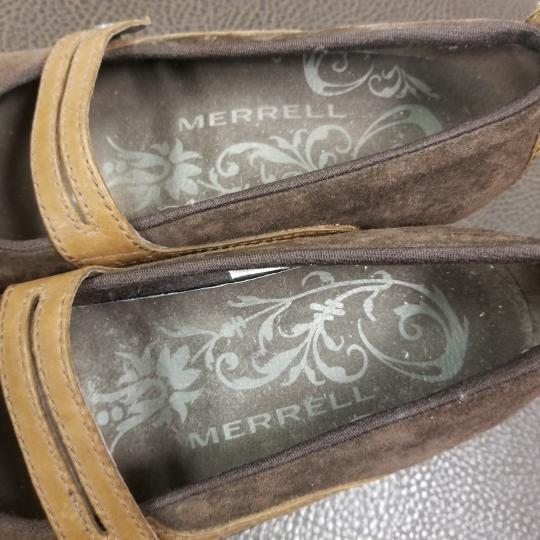 Merrell Suede Flats Brown Athletic Image 7
