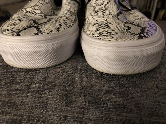 Vans J. Crew Python Slip On Black and white Athletic