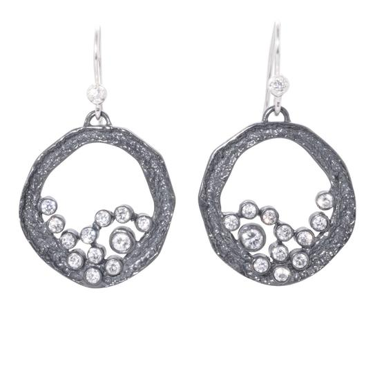 Melinda Maria Melinda Maria Emma Baby Cluster Gunmetal White CZ Earrings