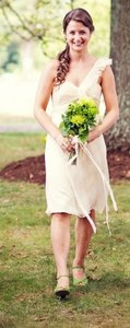 Amsale Vanilla Chiffon Bridesmaid G654c Dress