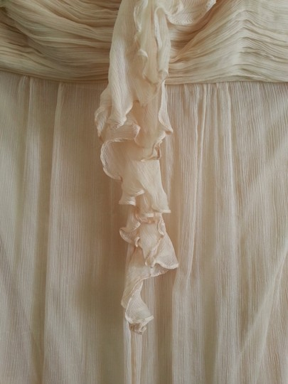 Amsale Vanilla Silk Chiffon G654c Formal Dress Size 4 (S)