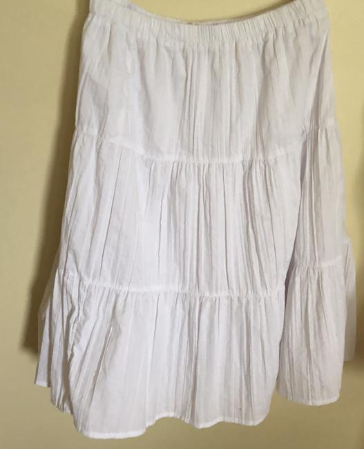 Basic Editions White Long Flowy Pretty Maxi Skirt N-W-O-T----white--BEACHY Image 7