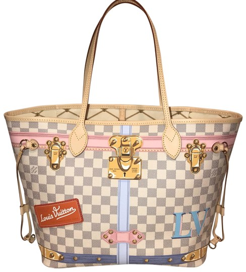 Preload https://item2.tradesy.com/images/louis-vuitton-neverfull-summer-trunks-limited-edition-2018-damier-azur-canvas-tote-23367581-0-1.jpg?width=440&height=440