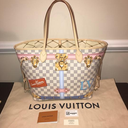 Louis Vuitton Trunks 2018 Trunks Collection Limited Edition Neverfull Mm Neverfull Limited Tote in Damier Azur