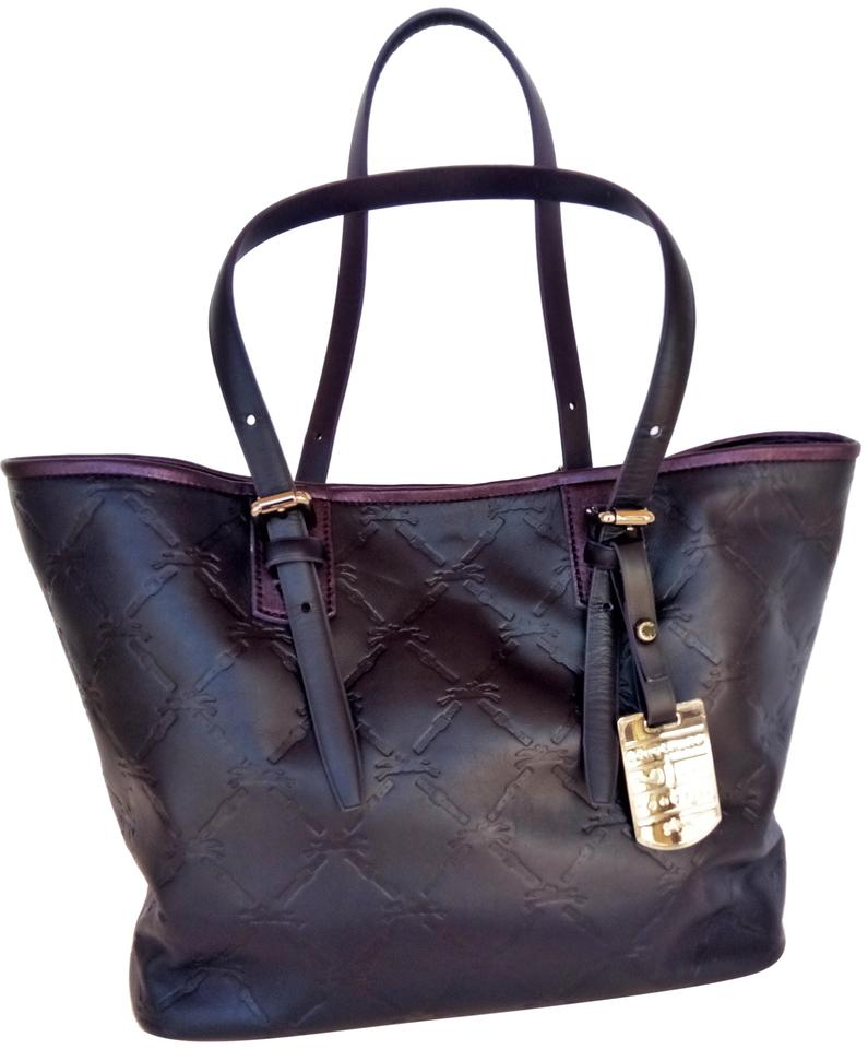 a91f2596cb Longchamp Lm Cuir Sm with Pouch Deep Purple Leather Tote - Tradesy