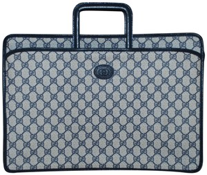 Gucci Made In Italy Monogram Leather Canvas Supreme Laptop Bag