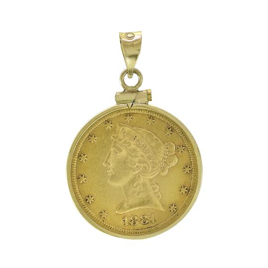 Preload https://img-static.tradesy.com/item/23367886/avital-and-co-jewelry-yellow-gold-1881-5-dollars-liberty-head-coin-in-14k-frame-0-0-540-540.jpg
