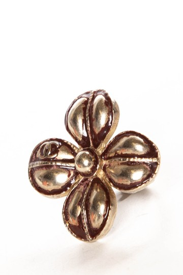 Chanel Tarnished Accent Four Leaf Clover Ring