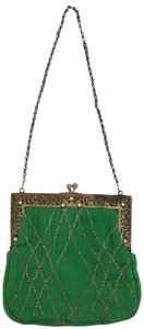 Collette Dinnigan Evening Handbag Chain Strap Sequin Rhinestone Cocktail Baguette