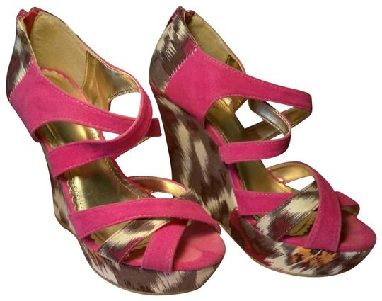 Preload https://img-static.tradesy.com/item/23367974/bamboo-fuchsia-and-gold-crossover-suede-strap-wedges-size-us-85-regular-m-b-0-2-540-540.jpg