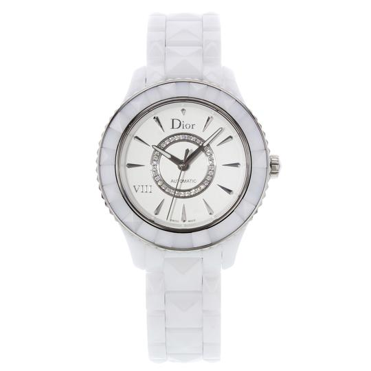 Dior CD1245E3C002 White Ceramic & Stainless Steel Automatic (19937)
