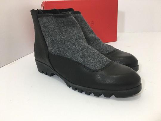 Arche Ankle Leather Size 10 Black, Gray Boots
