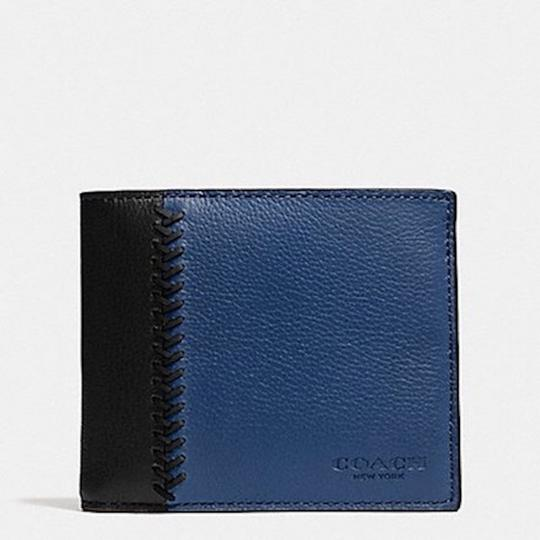 Coach COMPACT ID WALLET IN BASEBALL STITCH LEATHER