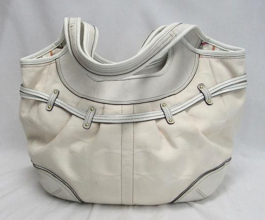 Coach Canvas Leather Hobo Bag