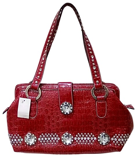 Preload https://img-static.tradesy.com/item/23368116/luxcessories-rhinestone-studded-western-red-faux-leather-shoulder-bag-0-1-540-540.jpg