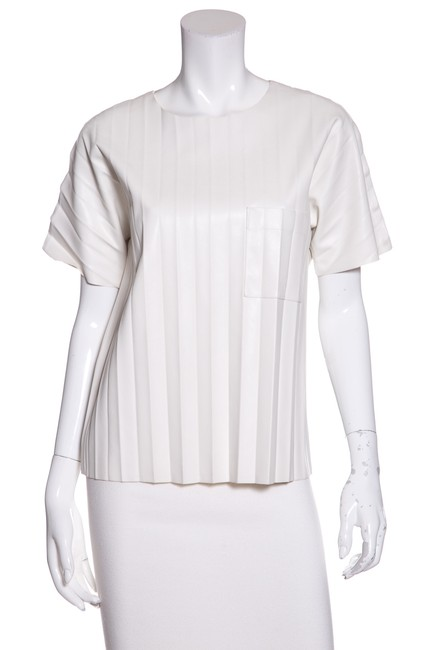 Preload https://img-static.tradesy.com/item/23368124/alexander-wang-white-accordion-leather-blouse-size-4-s-0-0-650-650.jpg