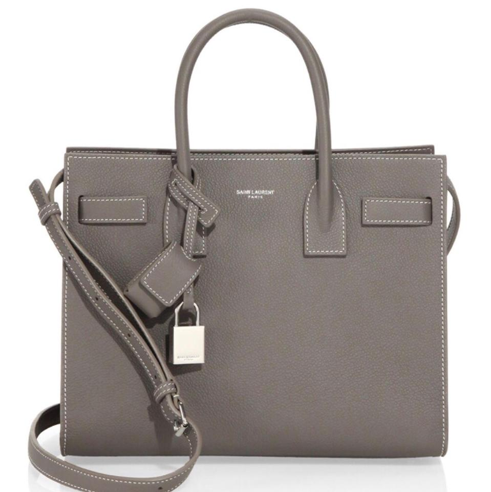 3bda2ff3f8f Saint Laurent Sac De Jour Ysl Sac De Jour Ysl Sac Satchel in Light Grey  Image ...