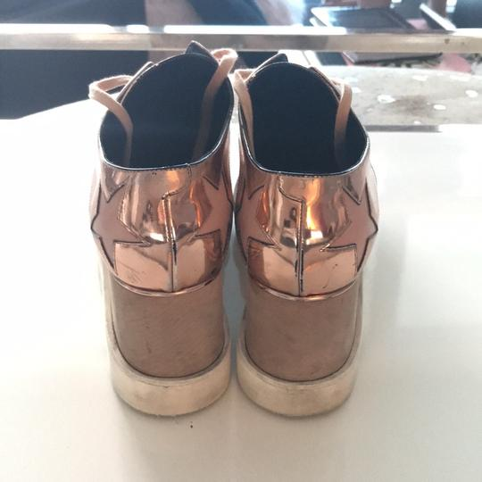Stella McCartney metallic pink Wedges