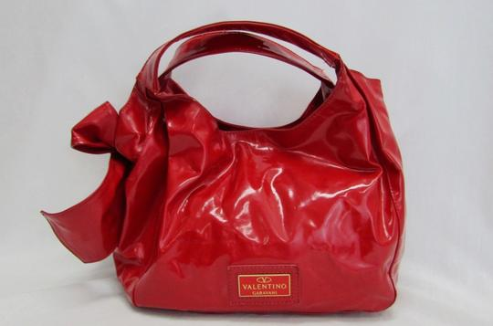 Valentino Bow Leather Lacca Hobo Bag