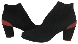 Arche Heels Ankle Comfort Suede Black, Red - Noir, Passion Boots
