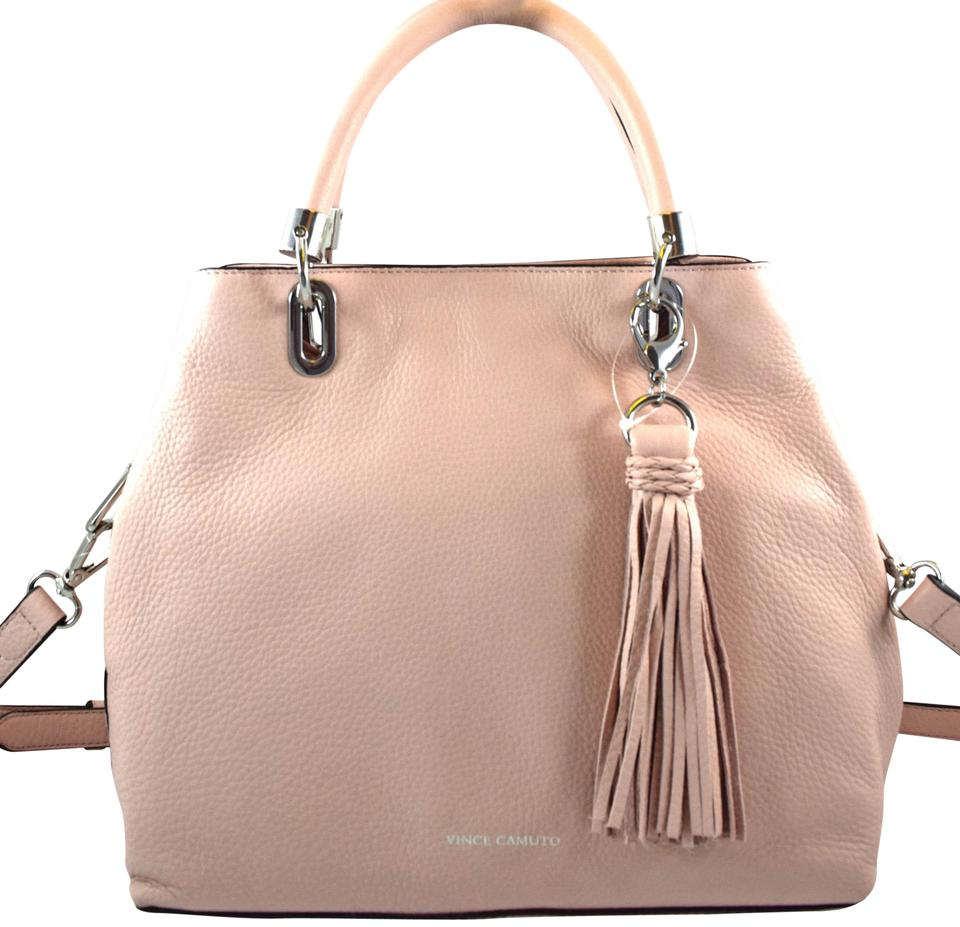 6ed73d715 Vince Camuto Elva Pink Cameo Rose Leather Satchel - Tradesy