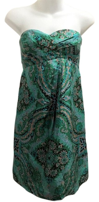 Preload https://img-static.tradesy.com/item/23368512/jcrew-green-strapless-silk-short-cocktail-dress-size-4-s-0-1-650-650.jpg