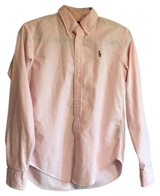 Preload https://img-static.tradesy.com/item/23368541/ralph-lauren-pink-and-white-button-down-top-size-6-s-0-1-650-650.jpg