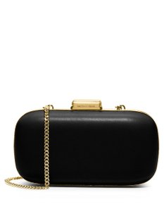 Michael Kors Leather Black with Gold Chain Clutch