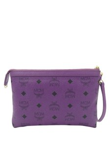 MCM Monogram Monogram Visteos Monogram Wristlet in Purple
