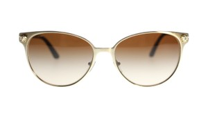Versace Versace Gold VE2168 133913 Brushed Pale Gold/Brown Lens Sunglasses