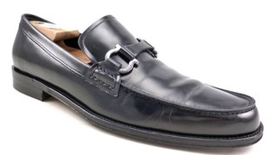 Salvatore Ferragamo Black Men's Leather Bit Slip On Loafers Shoes