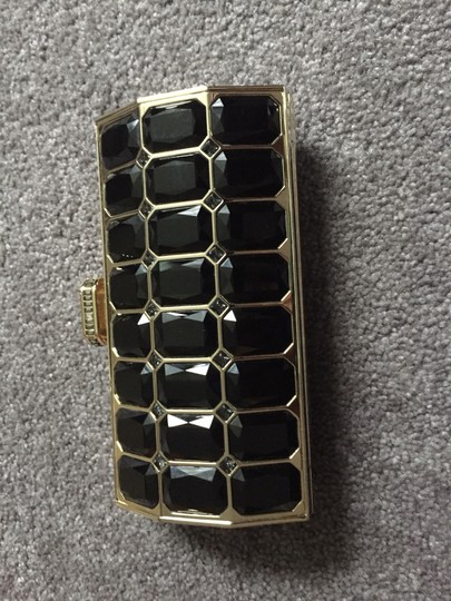 Judith Leiber Crystal BLACK AND GOLD Clutch