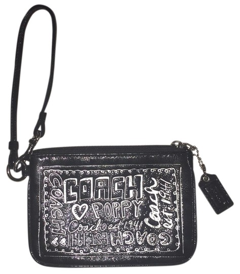 Preload https://img-static.tradesy.com/item/23368755/coach-poppy-black-and-silver-patent-leather-wristlet-0-1-540-540.jpg