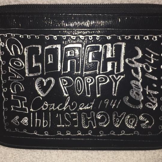 Coach Wristlet in Black & Silver