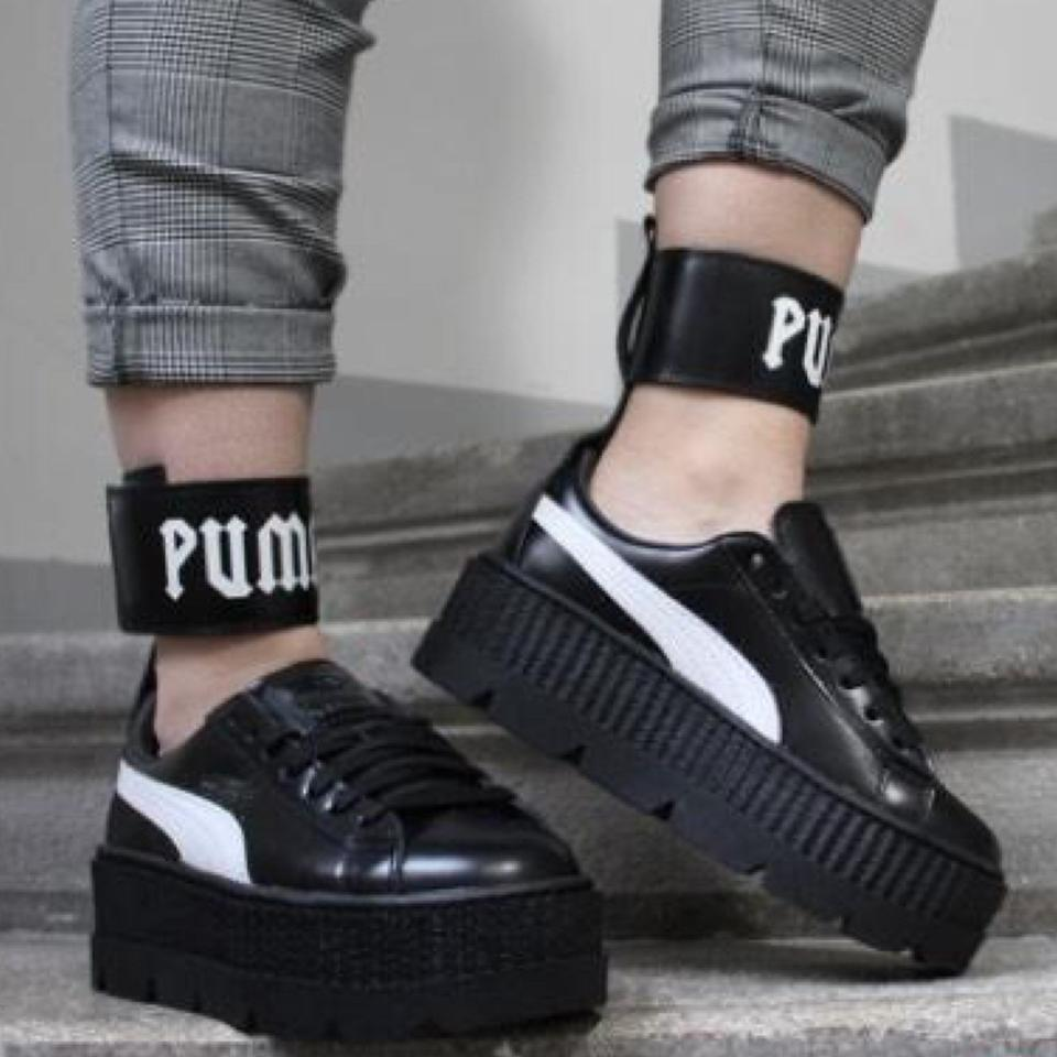 hot sale online e1b10 7e3fa Black Ankle Strap Sneakers