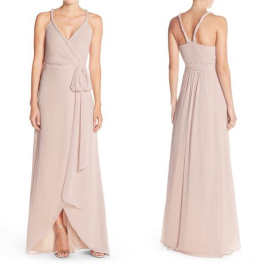 Joanna August All Tomorrow's Parties Chiffon Parker Twist Strap Wrap Gown - Feminine Bridesmaid/Mob Dress Size 2 (XS)