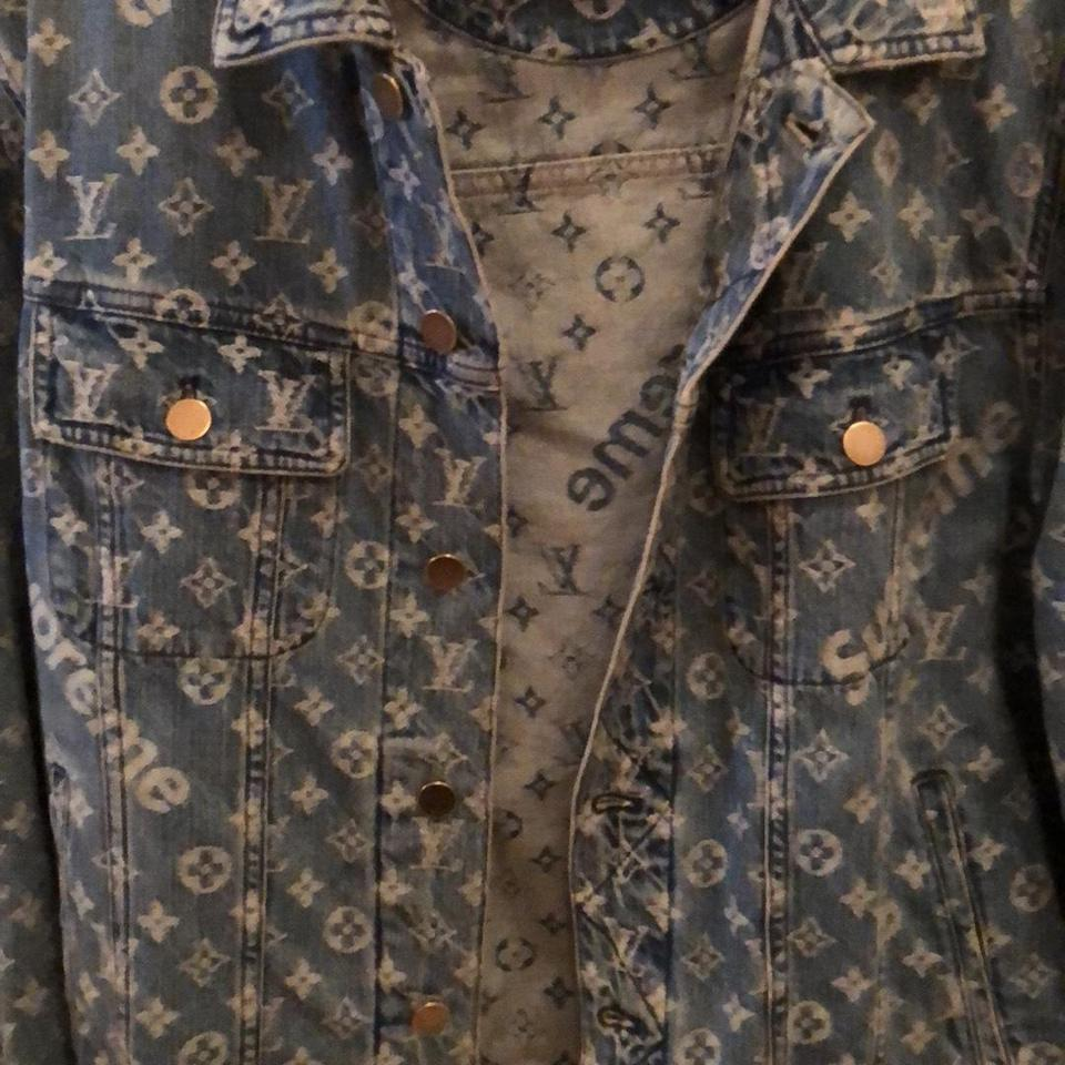 e4414923baa5 Louis Vuitton x Supreme Blue Jacket Size 8 (M) - Tradesy