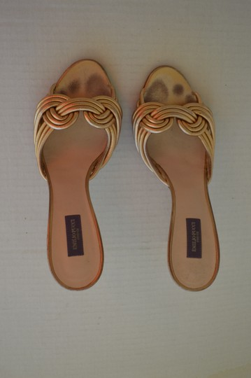 Emilio Pucci Leather Chic gold Sandals