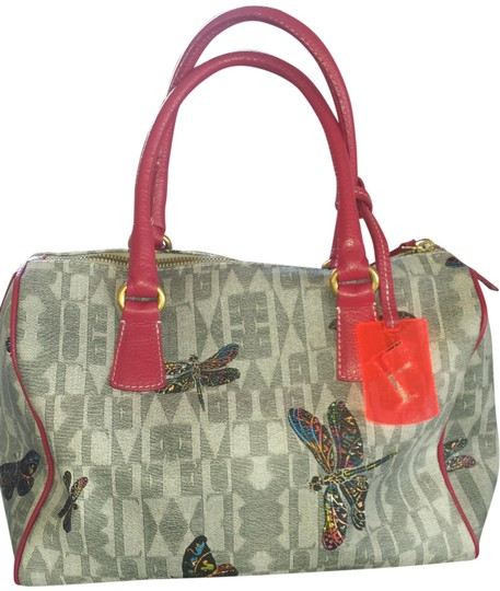 Preload https://img-static.tradesy.com/item/23368939/furla-butterfly-dragonflies-boston-gray-and-pink-with-colors-canvas-leather-satchel-0-1-540-540.jpg