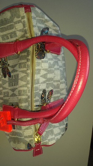 Furla Satchel in GRAY AND PINK WITH COLORS